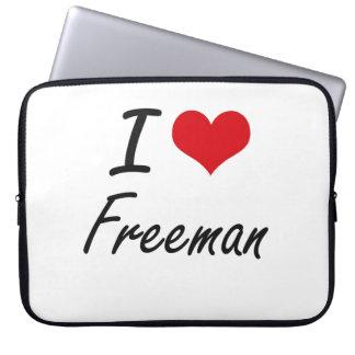 I Love Freeman Laptop Sleeves