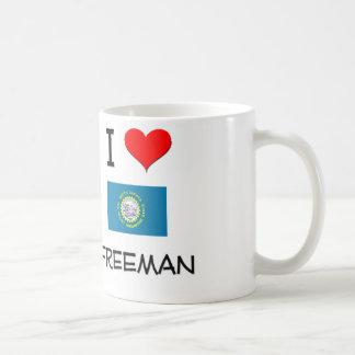 I Love Freeman South Dakota Mug