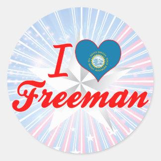I Love Freeman, South Dakota Stickers