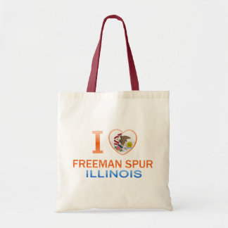 I Love Freeman Spur, IL Budget Tote Bag