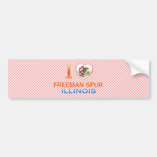 I Love Freeman Spur, IL Car Bumper Sticker