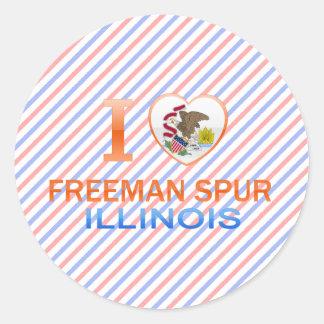 I Love Freeman Spur, IL Stickers