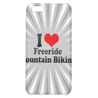 I love Freeride Mountain Biking Cover For iPhone 5C