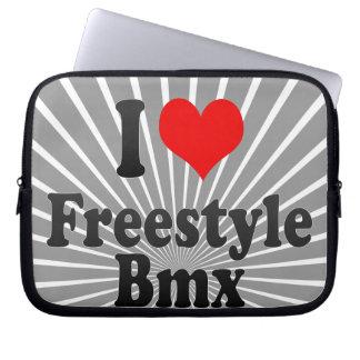 I love Freestyle Bmx Laptop Computer Sleeve