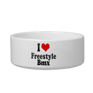 I love Freestyle Bmx Cat Water Bowls