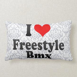 I love Freestyle Bmx Throw Pillows