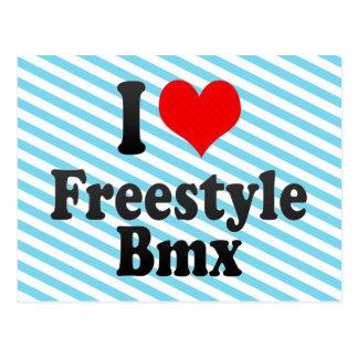 I love Freestyle Bmx Postcards
