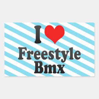 I love Freestyle Bmx Stickers