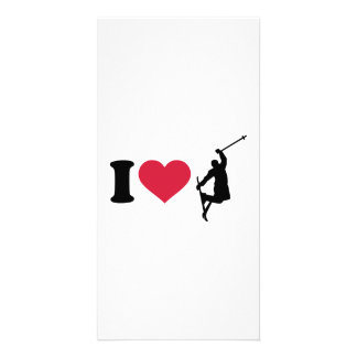 I love freestyle skiing personalized photo card