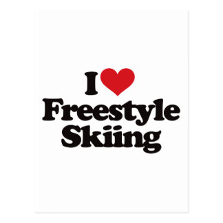 I Love Freestyle Skiing Postcard