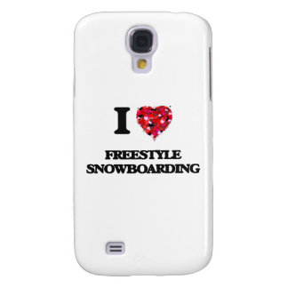 I Love Freestyle Snowboarding Galaxy S4 Covers
