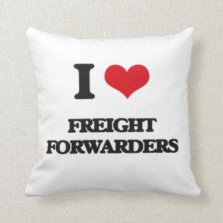 I love Freight Forwarders Throw Pillows
