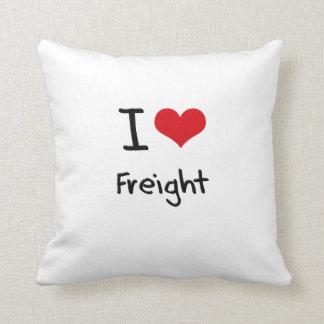 I Love Freight Throw Pillow