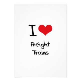 I Love Freight Trains Invitations