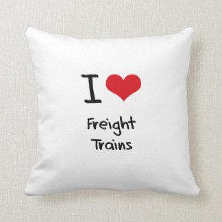 I Love Freight Trains Pillows