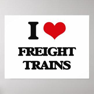 I love Freight Trains Print