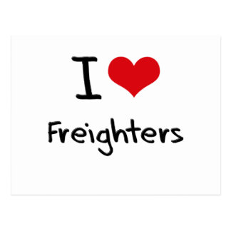 I Love Freighters Postcard
