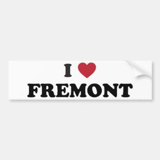 I Love Fremont California Car Bumper Sticker