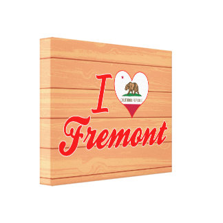 I Love Fremont, California Gallery Wrapped Canvas
