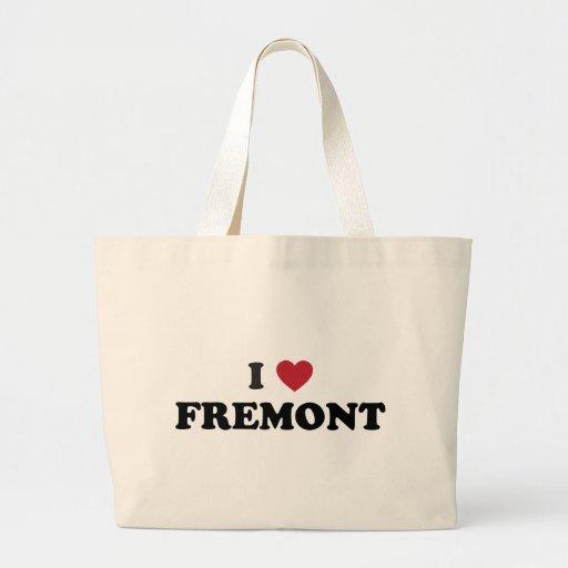 I Love Fremont California Jumbo Tote Bag