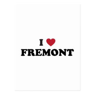 I Love Fremont California Postcard