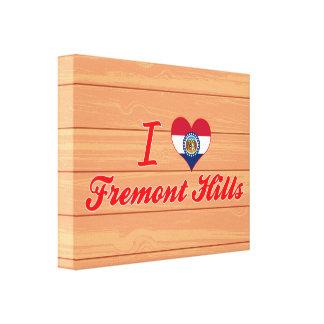 I Love Fremont Hills, Missouri Canvas Prints