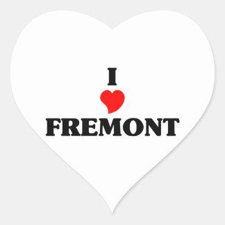 I love Fremont Ne Heart Sticker