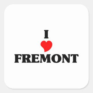 I love Fremont Ne Square Sticker