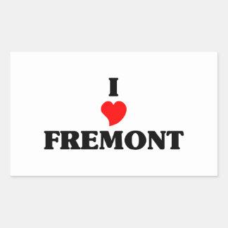 I love Fremont Ne Rectangular Sticker