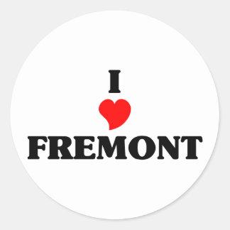 I love Fremont Ne Classic Round Sticker