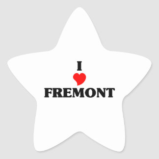 I love Fremont Ne Star Sticker