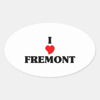 I love Fremont Ne Oval Sticker