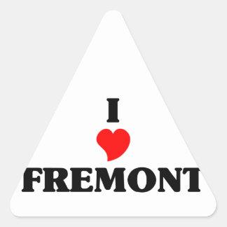 I love Fremont Ne Triangle Sticker