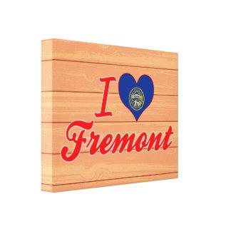 I Love Fremont, Nebraska Gallery Wrapped Canvas