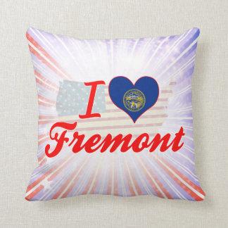 I Love Fremont, Nebraska Throw Pillow