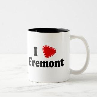 I Love Fremont Two-Tone Coffee Mug
