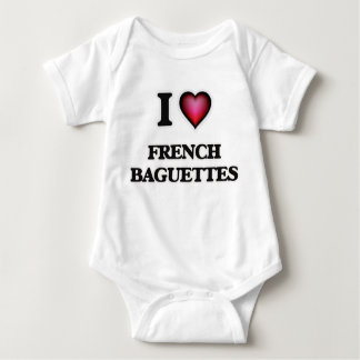 I Love French Baguettes Baby Bodysuit