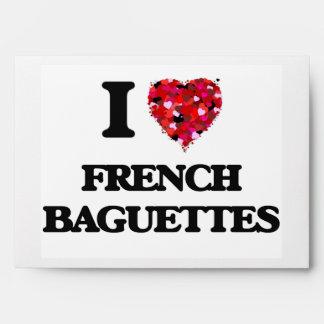 I Love French Baguettes food design Envelope