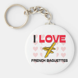 I Love French Baguettes Key Chain