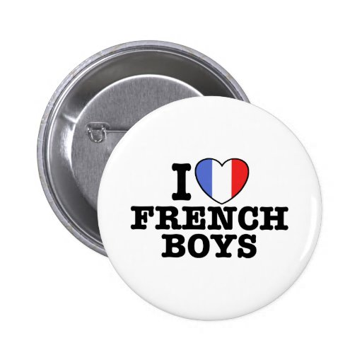 I Love French Boys 2 Inch Round Button
