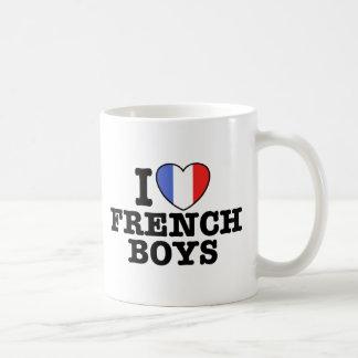I Love French Boys Coffee Mugs
