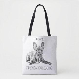 I love French bulldog farrowed Tote Bag