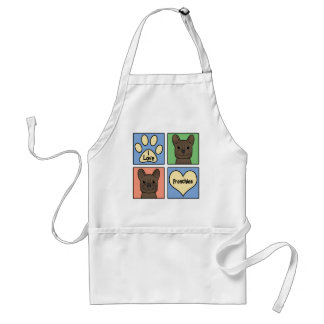 I Love French Bulldogs Adult Apron
