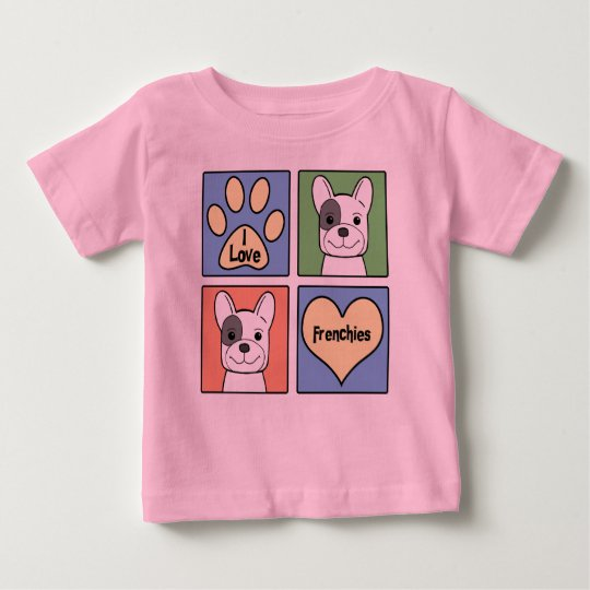 I Love French Bulldogs Baby T-Shirt