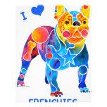 I Love French Bulldogs Custom Flyer