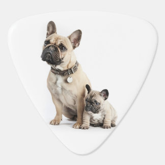 I love French Bulldogs Guitar Pick