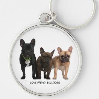I love French Bulldogs Keychain