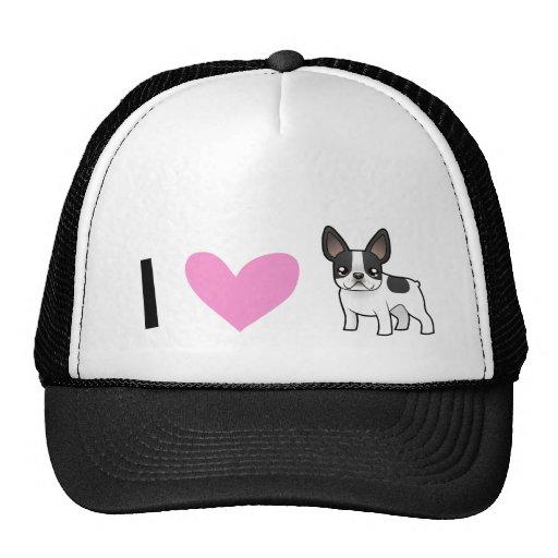 I Love French Bulldogs Mesh Hats