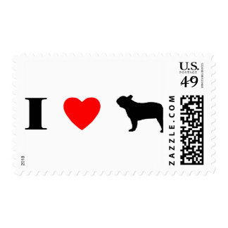 I Love French Bulldogs Postage Stamp