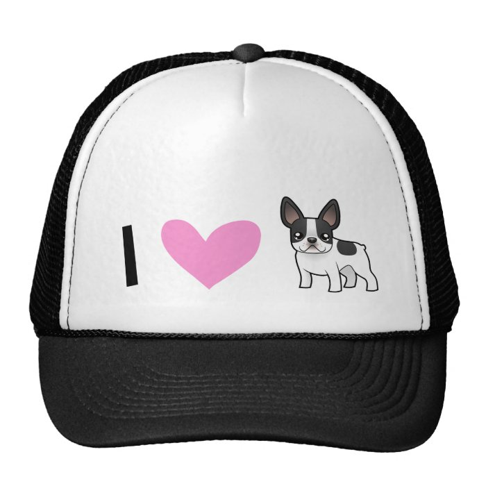 I Love French Bulldogs Trucker Hat